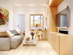 温馨舒适的现代公寓设计