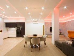 俄罗斯圣彼得堡120平米现代公寓设计