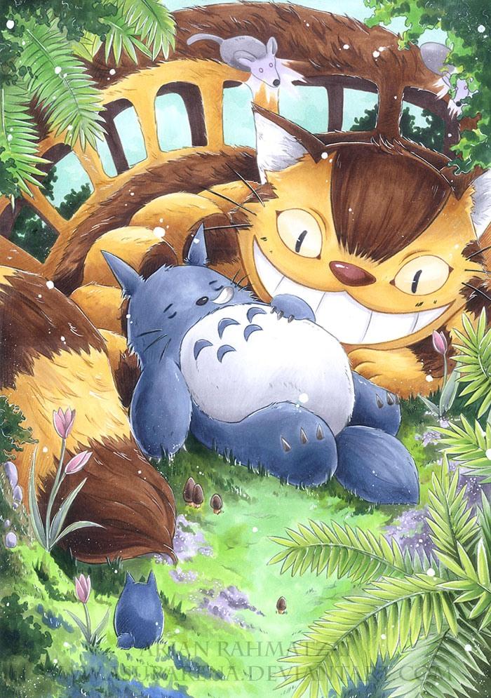 七龙珠1动漫_动漫角色插画欣赏:龙猫(Totoro)(5) - 设计之家