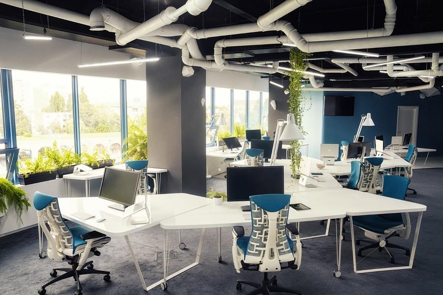 太空飞船般的游戏工作室办公空间设计