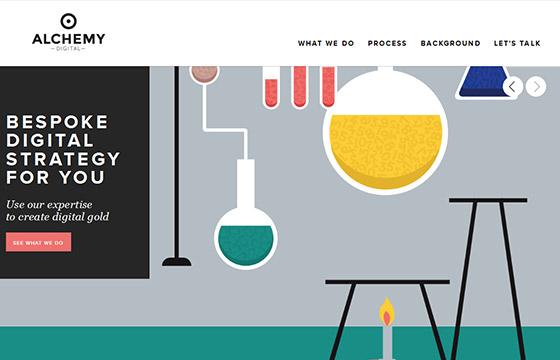55个创意单页面网站设计
