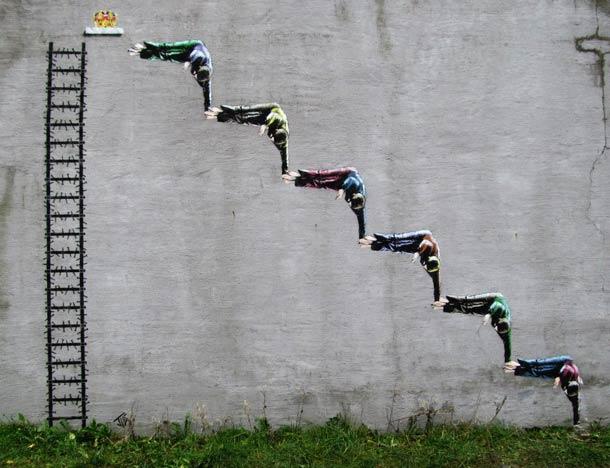 英国街头艺术家jps创意街头小品(3) - 设计之家