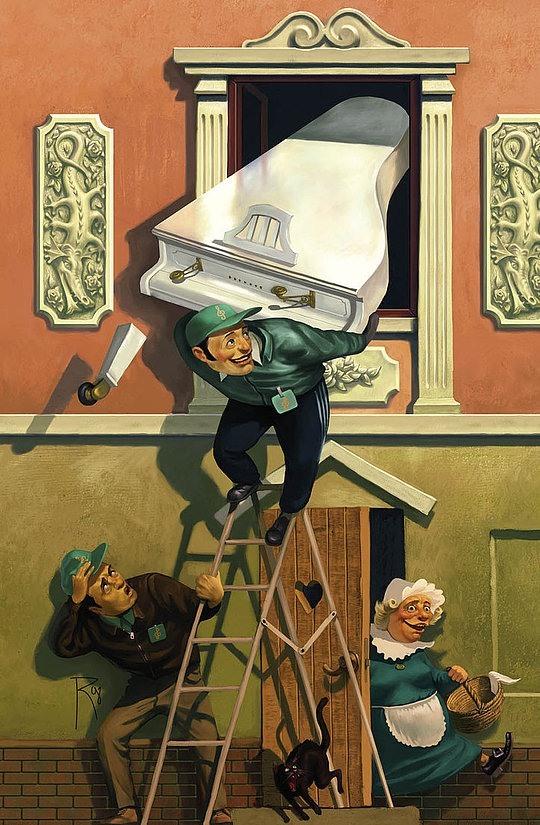 幽默,性感和冲击力: Waldemar von Kozak插画欣赏