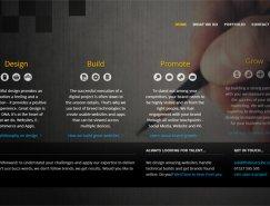 搭配深色大背景图片:大胆醒目的网站设