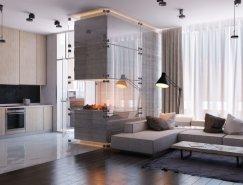 乌克兰设计师Vitaly Yurov:时尚现代公寓设
