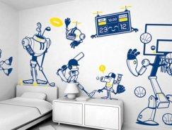 家居装修中创意时尚的墙绘设