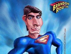 Anthony Geoffroy笔下幽默的超人漫画