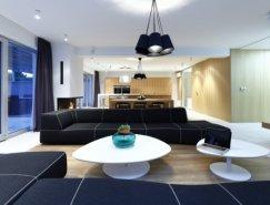 斯洛伐克宽敞的现代公寓设计