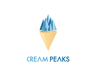 标志设计元素运用实例:冰淇淋图片
