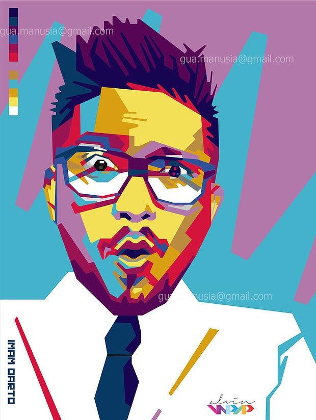 缤纷色彩的AlvinNurulImam人物肖像插画(3)建筑设计费做什么科目图片