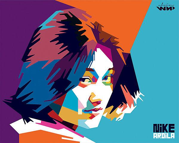 缤纷插画的AlvinNurulImam人物肖像色彩内浮顶罐设计图图片