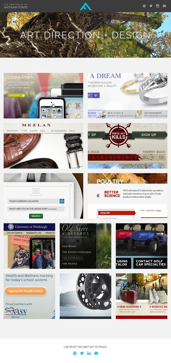 26个国外创意单页面网站设计