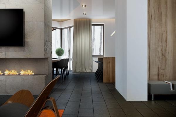 明亮的采光和白色调装修的4组公寓欣赏