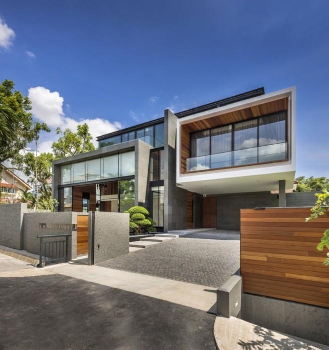 现代别墅设计_豪华现代别墅外观设计_现代简约时尚别墅