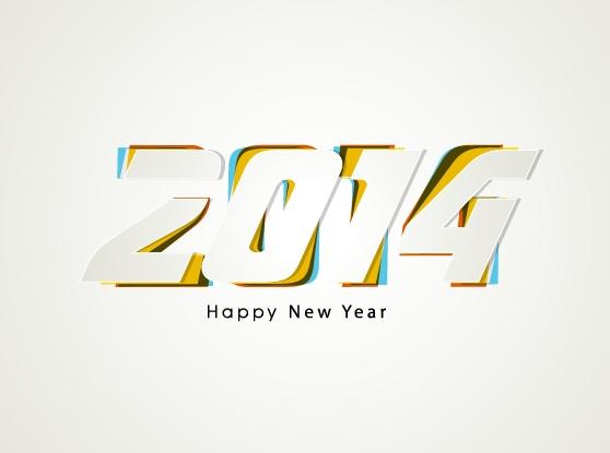 2014炫彩动感字体矢量素材 - 设计之家