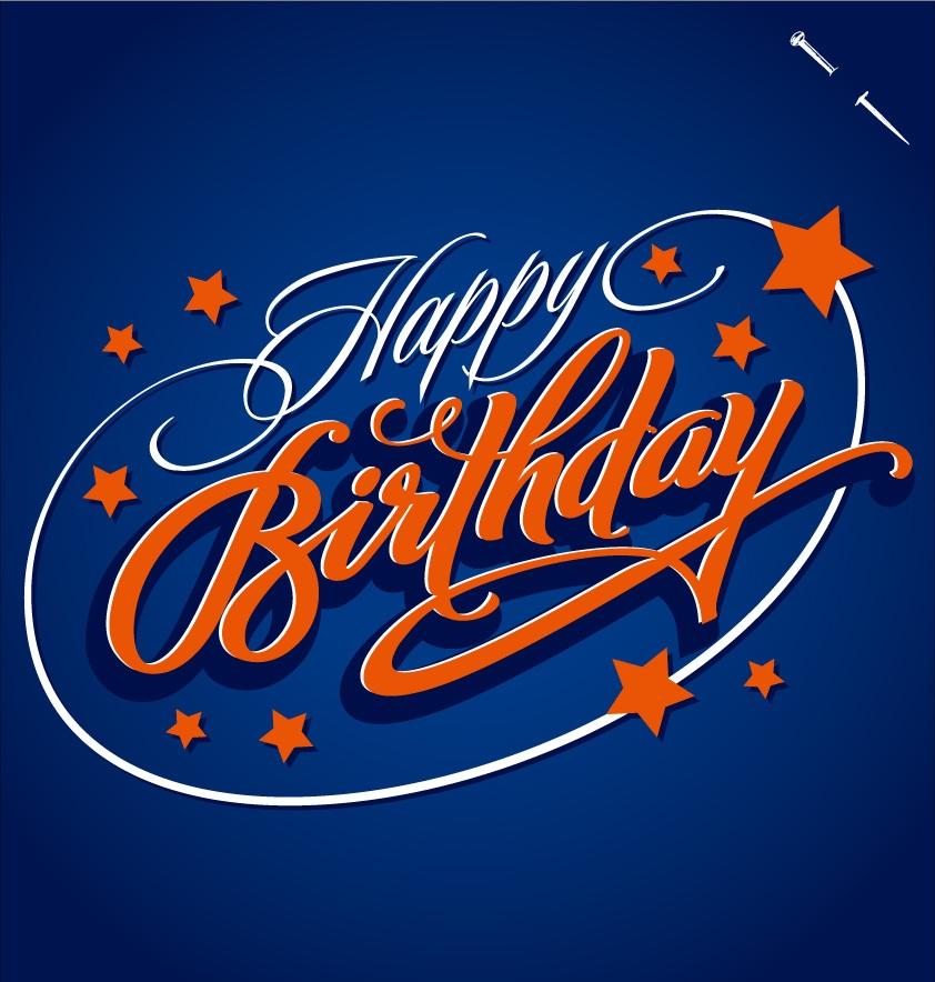 EPS格式,生日快乐,艺术字,Happy Birthday,星星,海报,矢量图