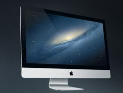 27寸蘋果iMAC PSD素材