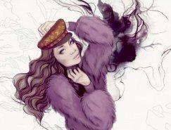 50个漂亮的时装手绘插画欣赏