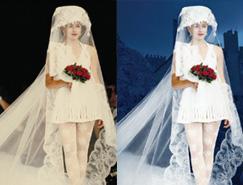 利用PS通道抠出穿婚纱的模特