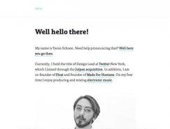 26个国外极简主义风格网站欣赏