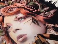 Karla Mialynne驚艷的彩色鉛筆畫作欣賞