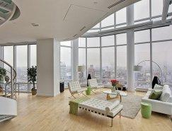 豪华简约的纽约现代复式公寓设计