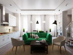 相同空间 2种不同设计风格的复式公寓设