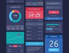 扁平化风格UI界面PSD素材