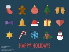 15款圣誕小圖標矢量素材