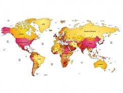 彩色世界地圖矢量素材