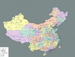 中国地图矢量素材(2)