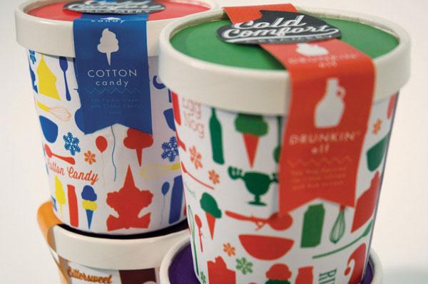 精选国外冰淇淋包装设计欣赏图片