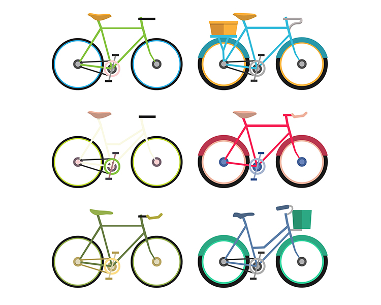 素材 矢量/AI格式,自行车,图标,矢量图...