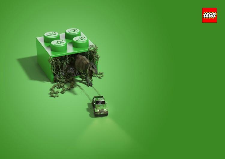 Lego(乐高)积木创意平面广告