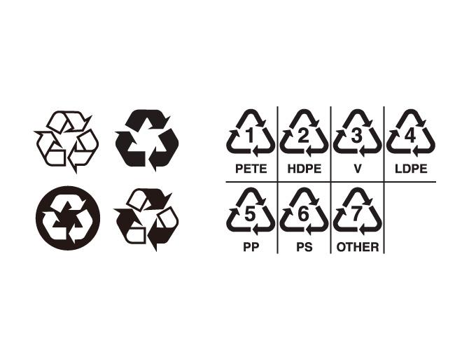 可回收标志矢量图