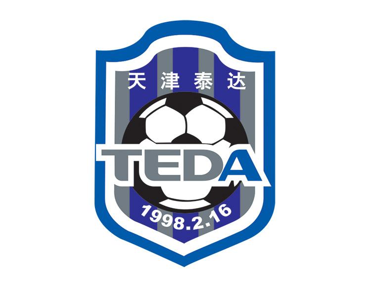天津泰达队徽logo矢量图
