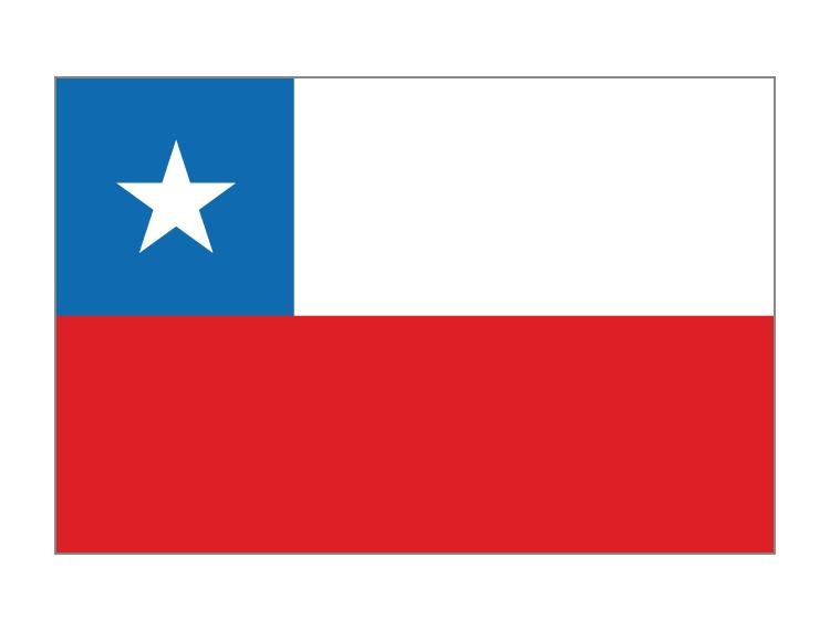 智利国旗矢量图