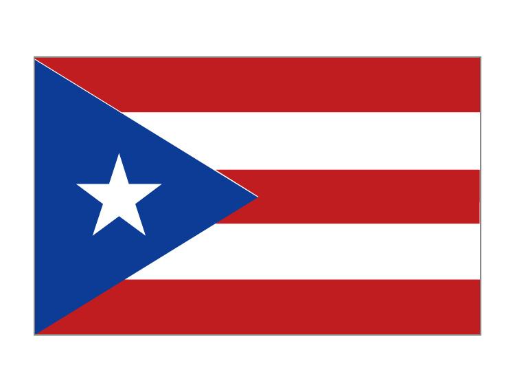 波多黎各旗帜矢量图