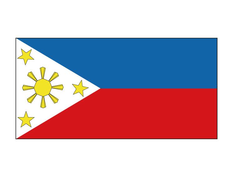 菲律宾国旗矢量图