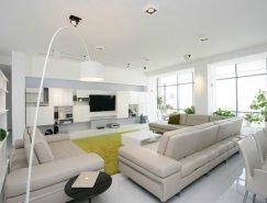 乌克兰现代简约的纯白公寓设计