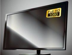 1080P高清液晶電視矢量素材