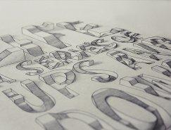 Lex Wilson创新的手绘立体图案设计