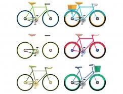 6款自行车矢量素材