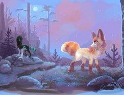 挪威艺术家Tina可爱的动物插画欣赏