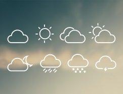 8款天氣圖標矢量素材