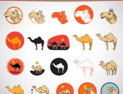 駱駝矢量素材