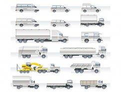 多款货车和卡车矢量素材