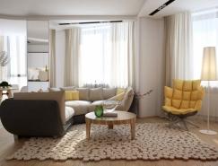 色调柔和的现代公寓欣赏