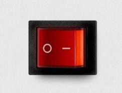 红色开关按钮PSD素材