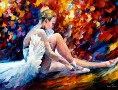 炫丽浓烈的色彩:Leonid Afremov油画作品欣赏